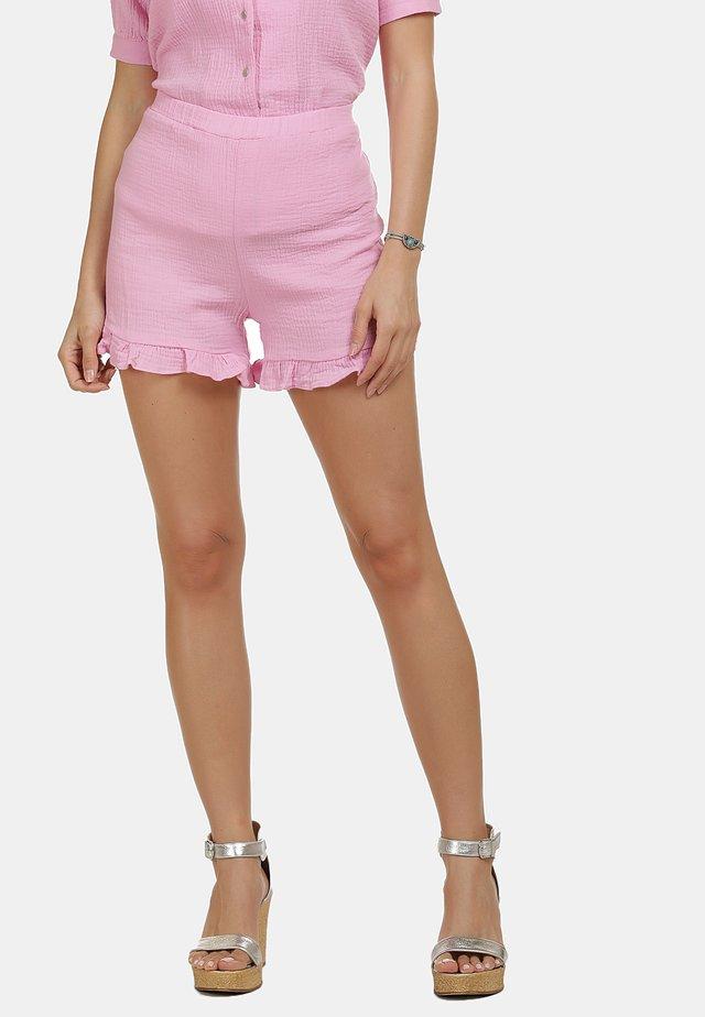 IZIA SHORTS - Shorts - rosa