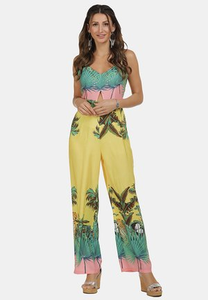 Jumpsuit - tropical print
