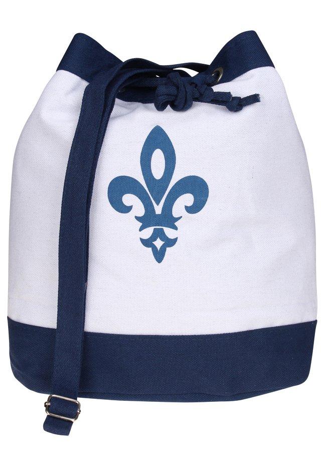 Handbag - dark blue/white