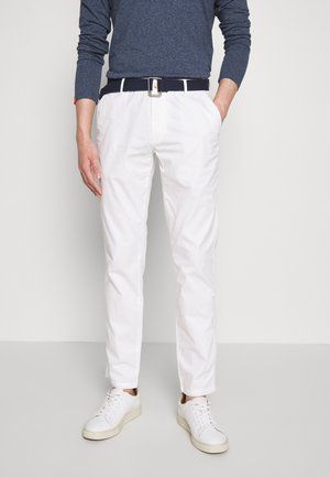 BELTED LIGHT WEIGHT - Chino kalhoty - bright white