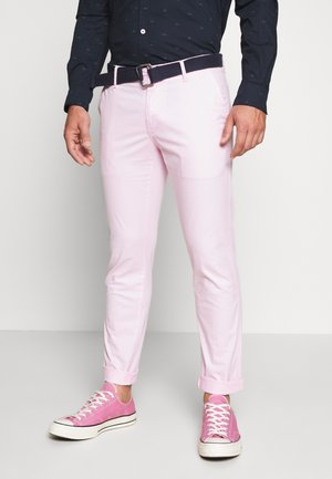BELTED LIGHT WEIGHT - Chinosy - pink lady