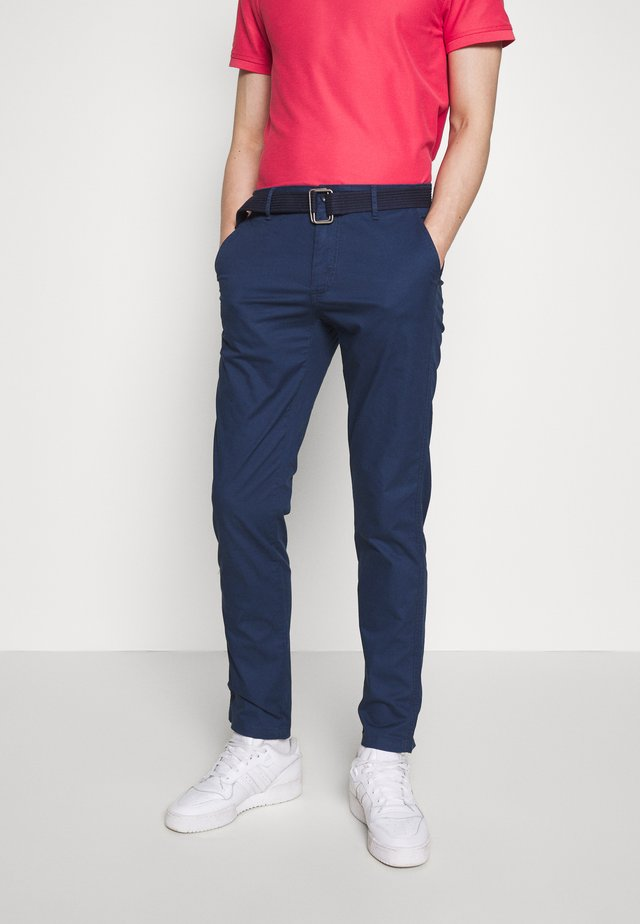 BELTED LIGHT WEIGHT - Chinos - cadet navy