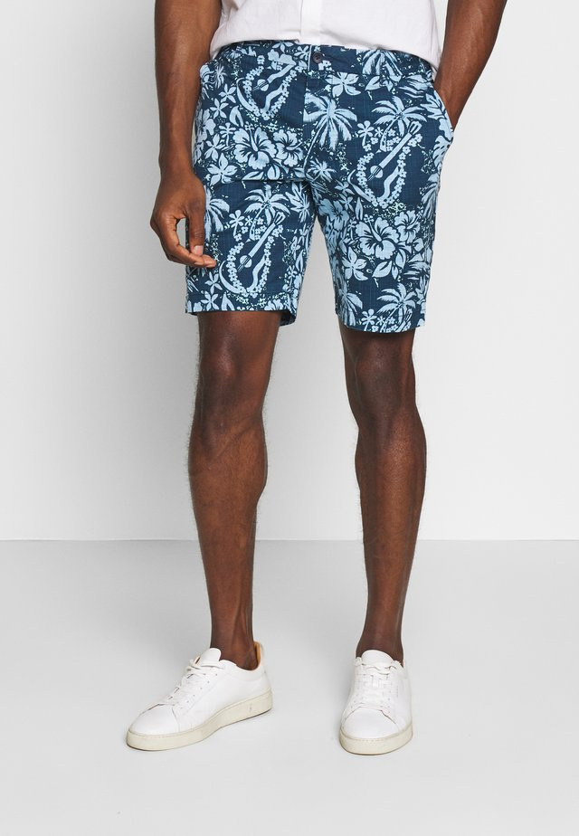 PRINTED GUITAR  - Shorts - cadet navy