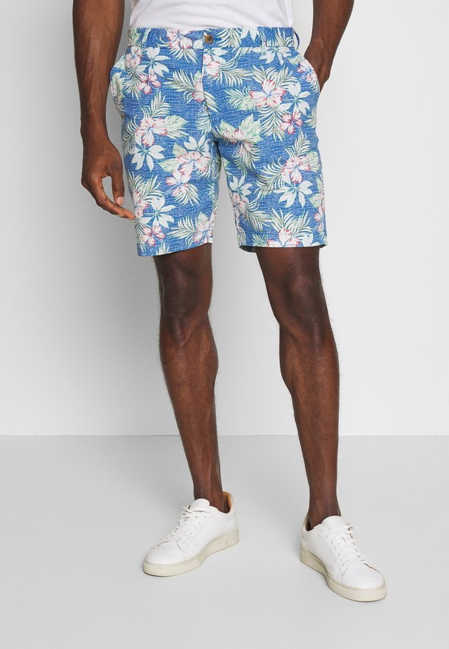 FLORAL CHAMBRY SHORT - Szorty - federal blue