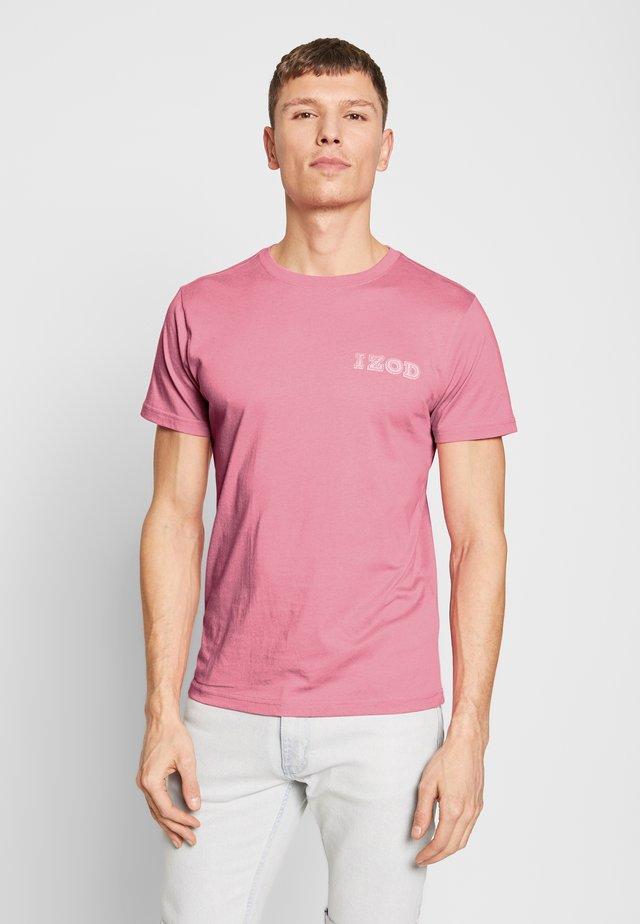 LOGO TEE - Print T-shirt - pink carnation