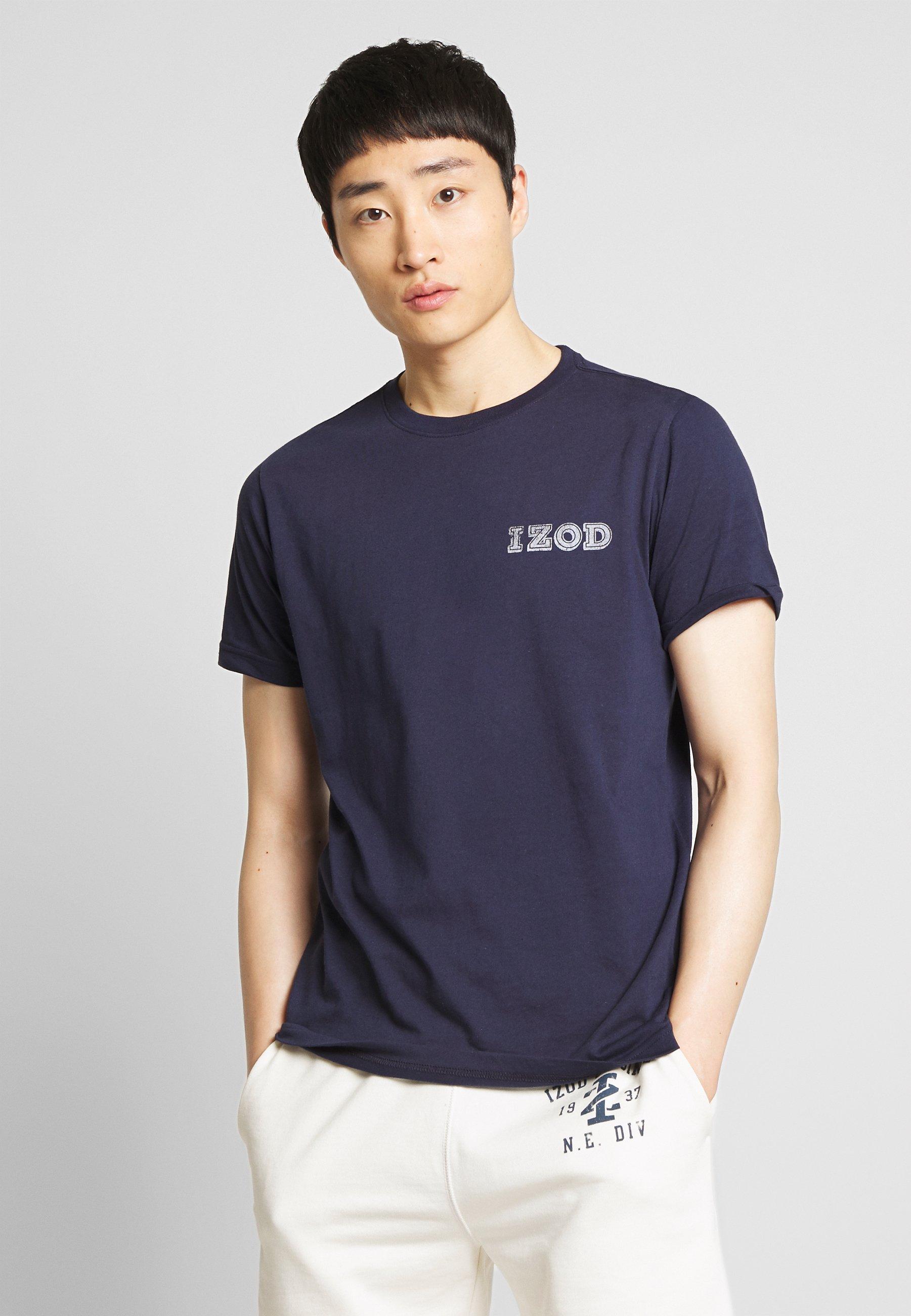 IZOD LOGO TEE - Print T-shirt - peacoat