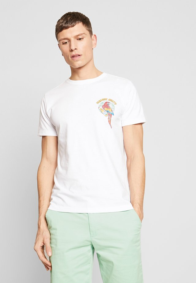 PARROTS TEE - T-shirt med print - bright white