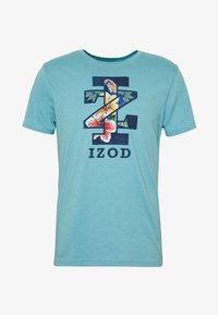 IZOD - GRAPHIC TEE - T-shirts med print - blue - 3