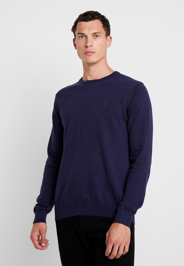 CREW NECK - Stickad tröja - peacoat