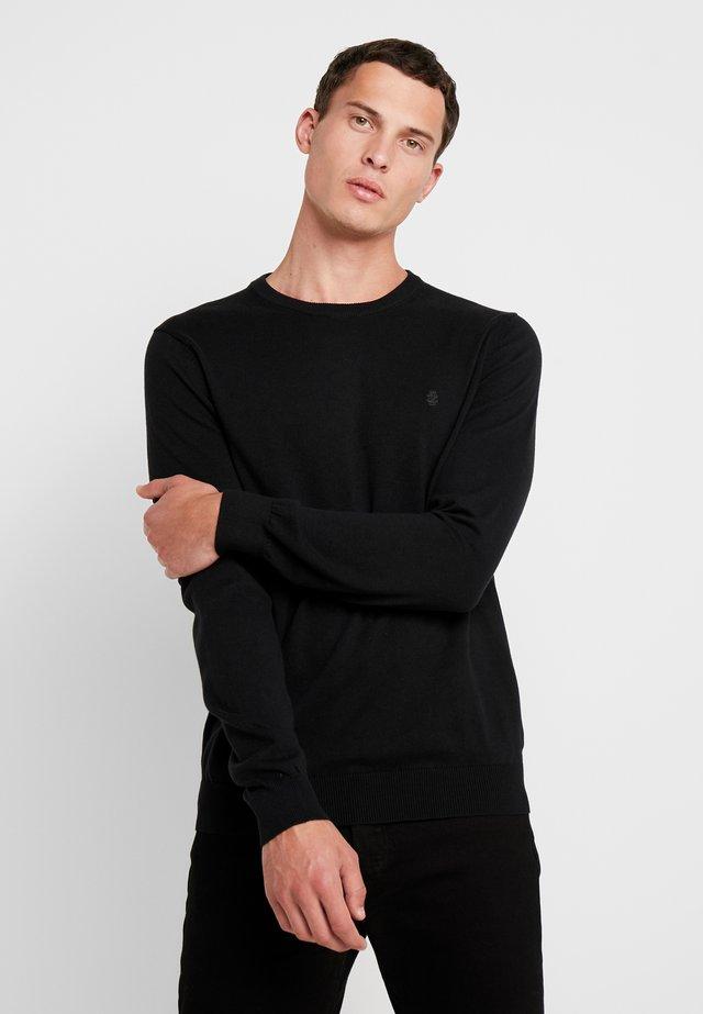 CREW NECK - Strickpullover - black