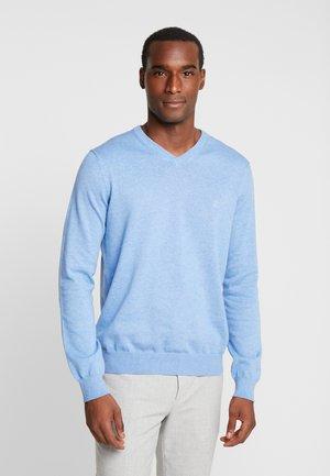 V-NECK - Stickad tröja - blue revival heather