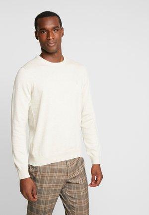 BASIC CREW NECK - Pullover - beige