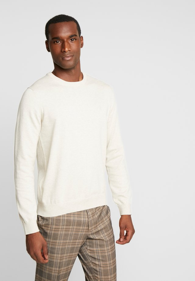 CREW NECK - Stickad tröja - beige