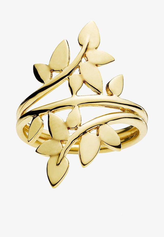 POETRY - Pierścionek - gold-coloured