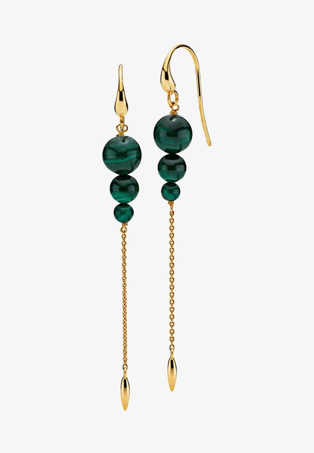 Kolczyki - gold/green