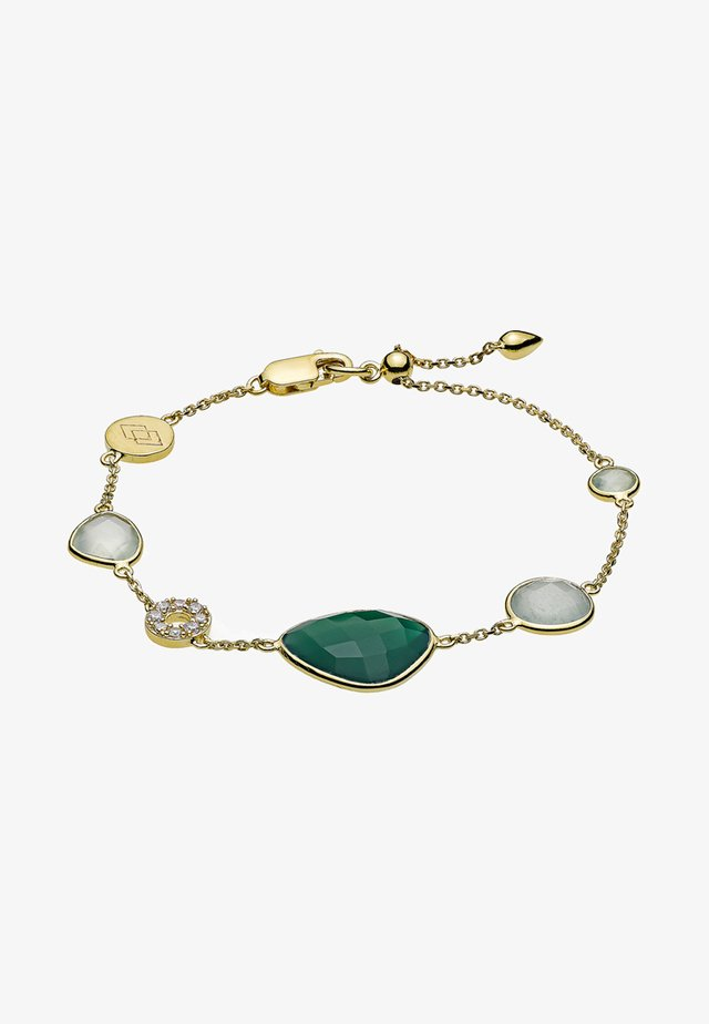 Bransoletka - gold-coloured/green