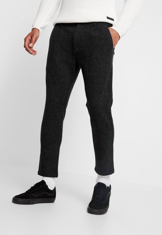 LINUS SLIM - Kalhoty - antracite