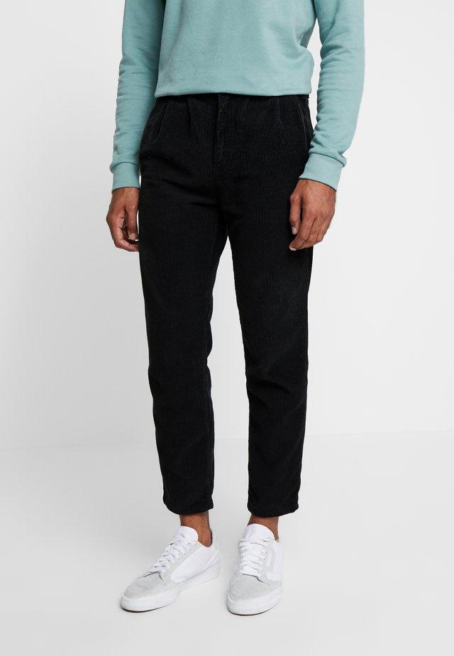 BOX CORDUROY - Kalhoty - black