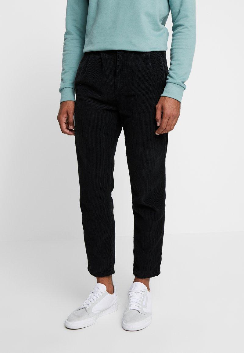 Just Junkies - BOX CORDUROY - Trousers - black