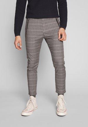 FLEX - Pantalones - check / grey