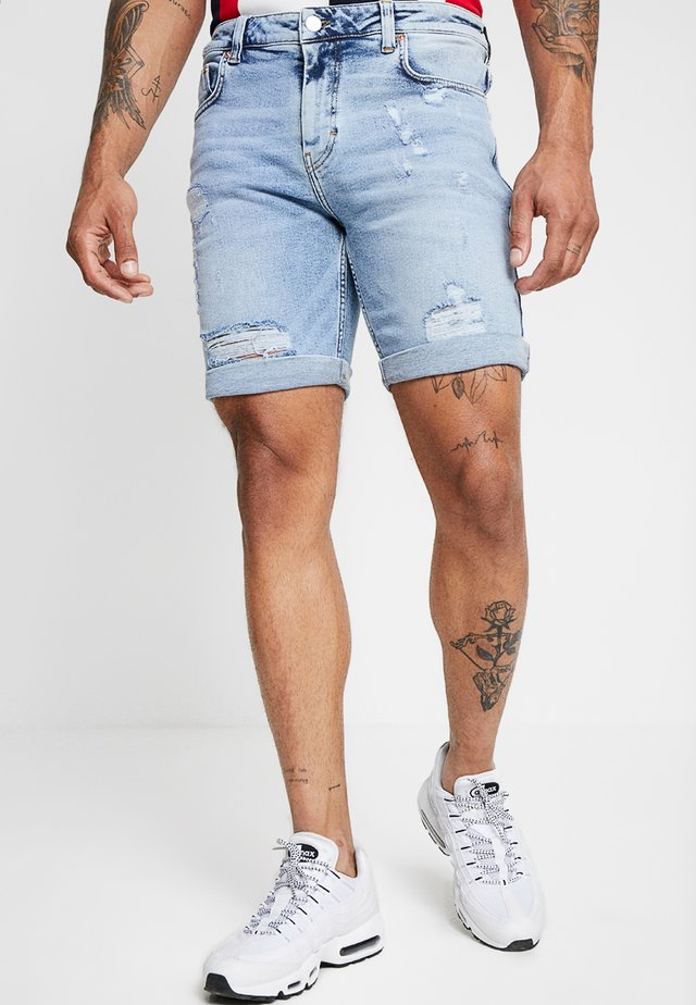 MIKE - Denim shorts - ozon blue