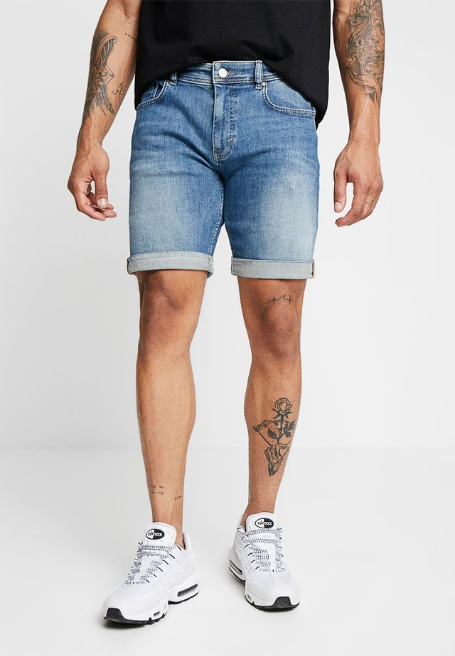 MIKE - Jeansshorts - element blue