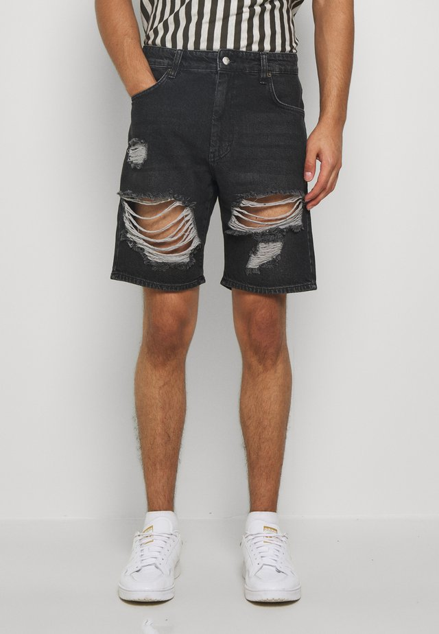 STORM - Jeansshorts - old black