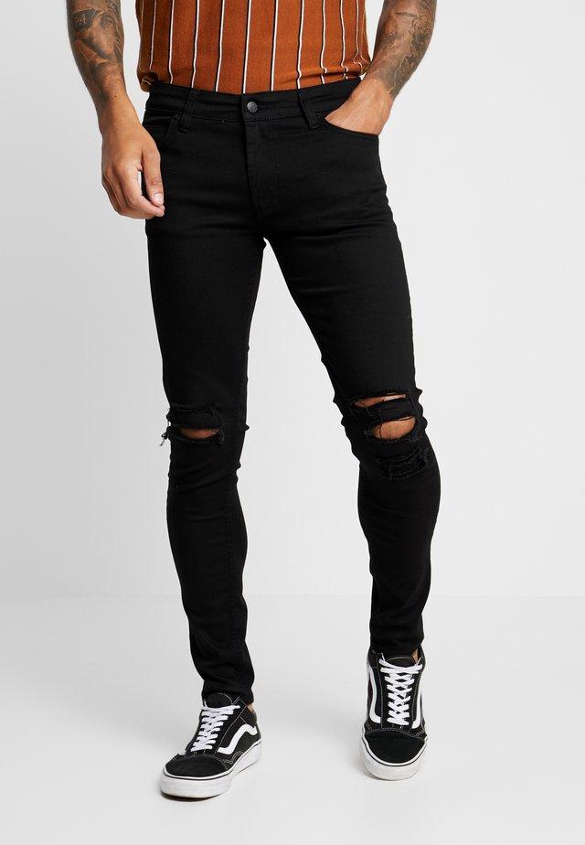 MAXBLACK HOLES - Jeans Skinny Fit - black