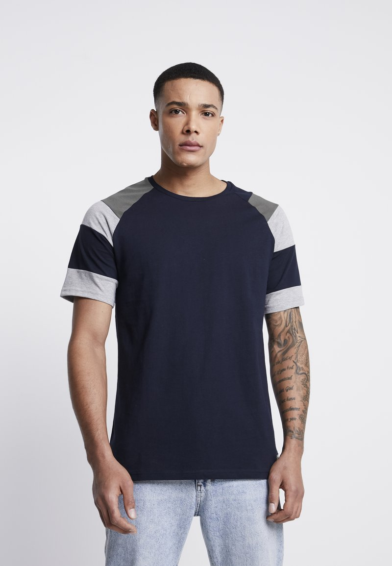 Just Junkies - CELL TEE - Print T-shirt - navy