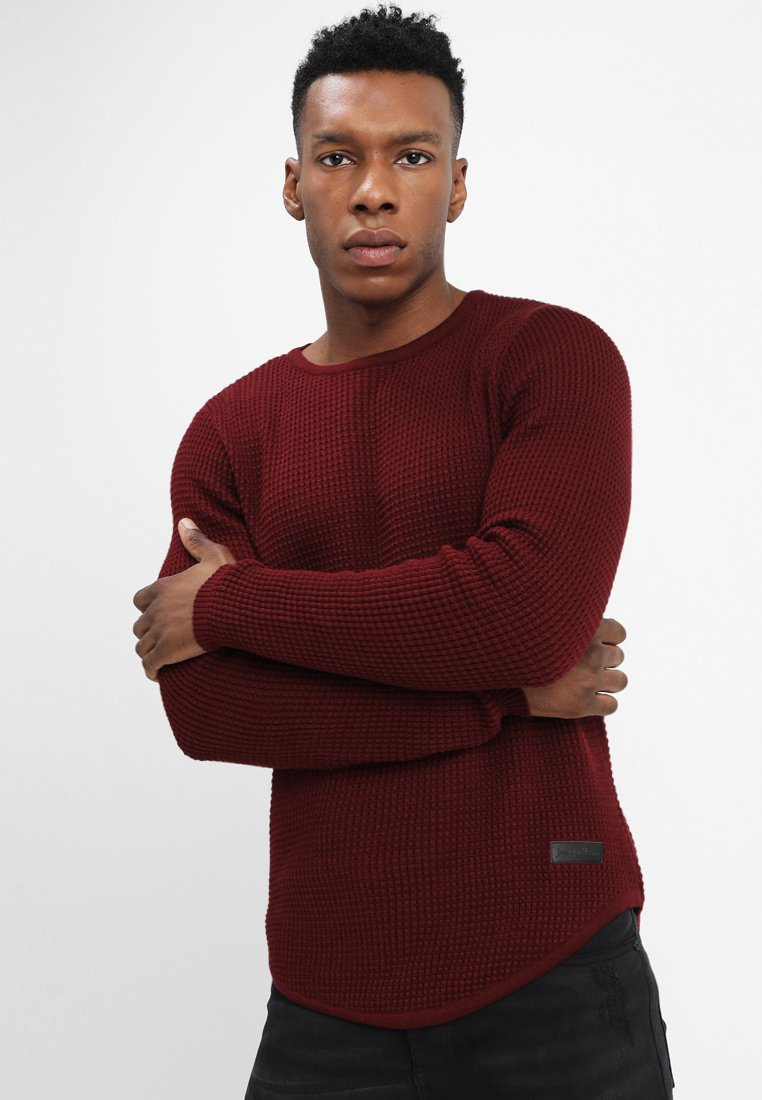 Just Junkies - ARNOLD - Strickpullover - bordeaux