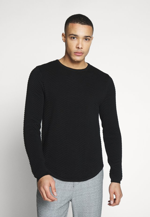 SIMON - Jumper - black