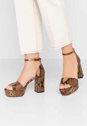 VISIRE - High heeled sandals - camel
