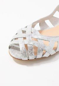 Jonak - DERAY - Peeptoe ballet pumps - silver - 2