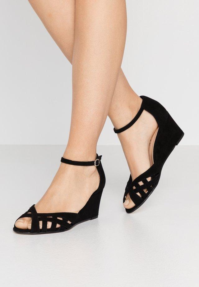 DEYONIT - Sandales compensées - noir