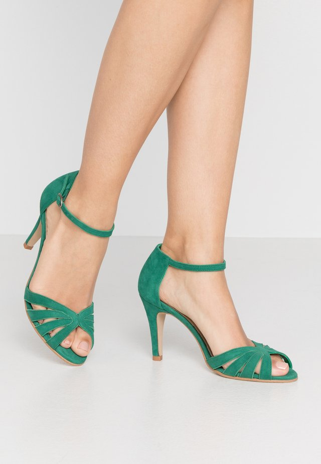 DONIT - High heeled sandals - vert fonce