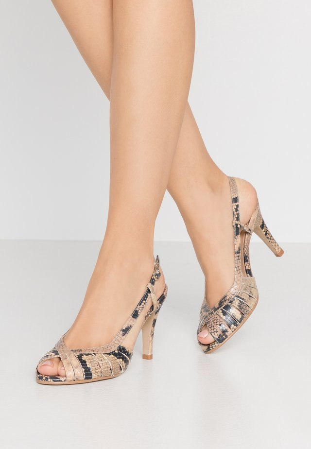 DAUTA - High heeled sandals - beige