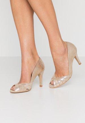 ACIDE - Peeptoe heels - platine