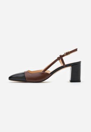 DHAPOP - Classic heels - noir/brandy