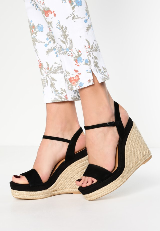 SOLINE - High heeled sandals - noir