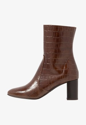 DIDLANEO - Classic ankle boots - cognac