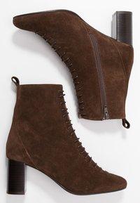 Jonak - DARROUSI - Lace-up ankle boots - cognac - 3