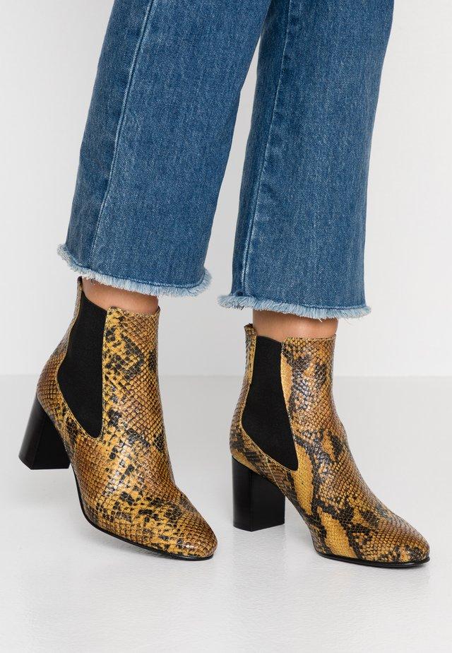 DAMOCLE - Boots à talons - jaune