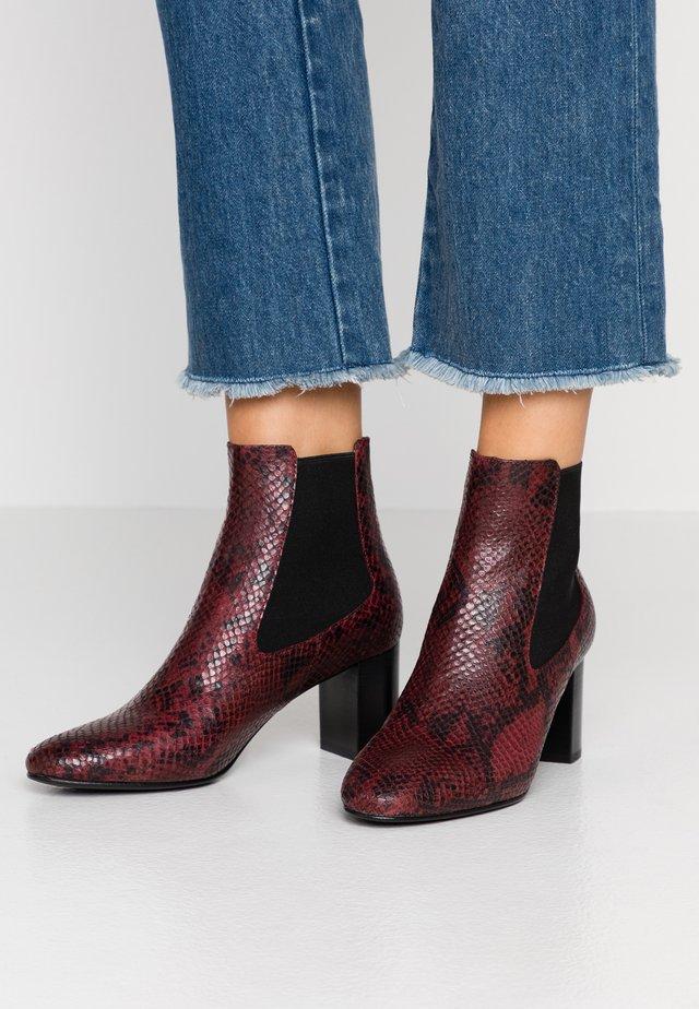 DAMOCLE - Boots à talons - bordeaux