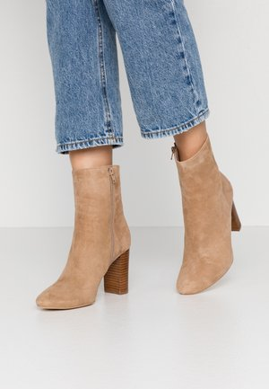 VOLPONE - High heeled ankle boots - beige