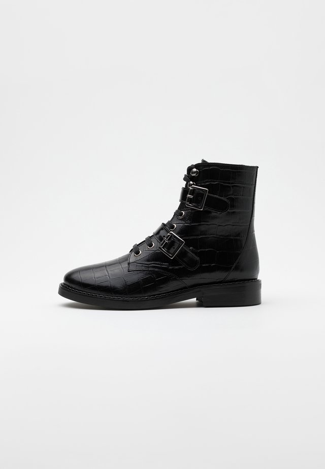 ADMETE - Bottines à lacets - noir