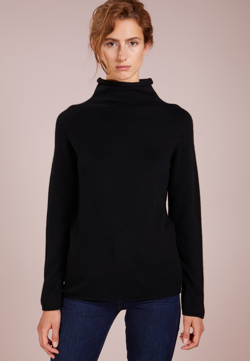 Johnstons of Elgin - FUNNEL NECK - Jumper - black