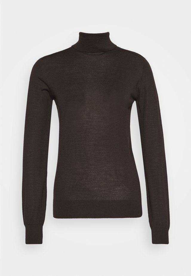 MARIA ROLL NECK - Jumper - dark chocolate