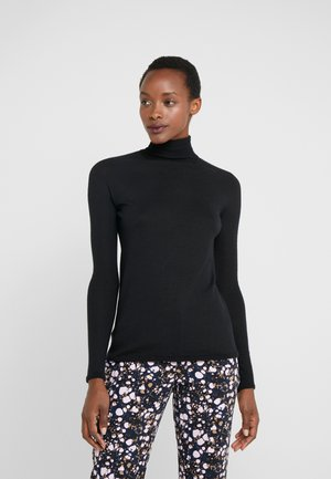 RIVER ROLL NECK - Stickad tröja - black