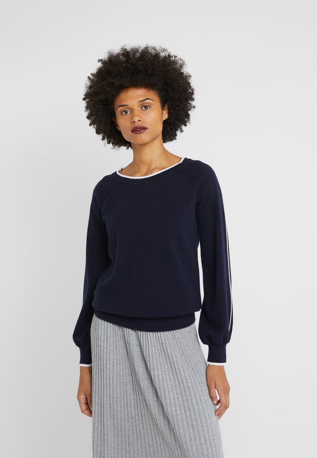 LILLA SWEATER - Neule - dark navy/white
