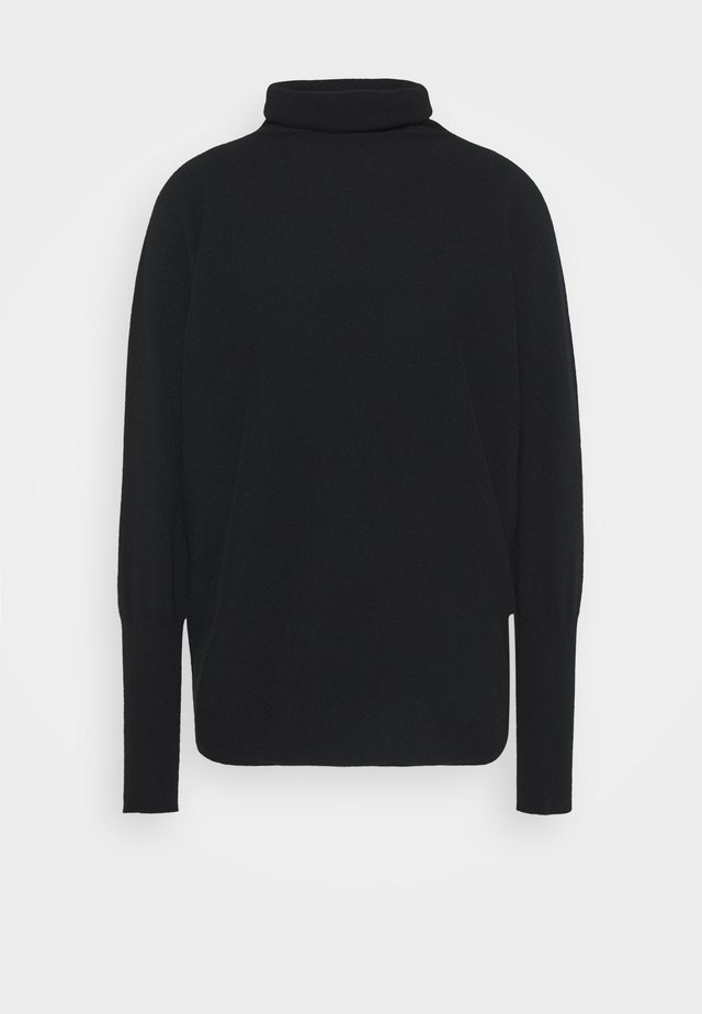 MARTHA BATWING ROLL NECK - Jumper - black